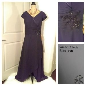 Light In The Box Dresses - New Light In The Box Black Evening Gown sz 16 w